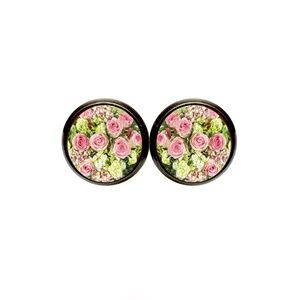 HP! Pink Rose Earrings